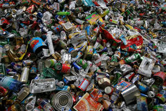 RECYCLING TINS Royalty Free Stock Photo