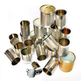 Recycling tins Royalty Free Stock Photography