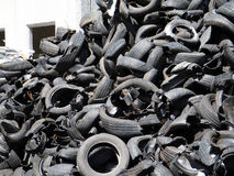 Recycling  tires Royalty Free Stock Photo