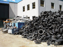 Recycling  tires Royalty Free Stock Photography