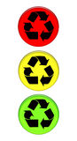 Recycling traffic light Stock Images