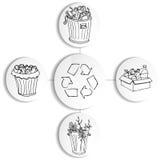 Recycling Trash Bin Chart. An image of a recycling trash bin chart Stock Photos