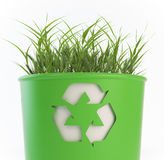 Recycling trash bin with growing Stock Images