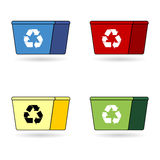 Recycling trash boxes Royalty Free Stock Photo
