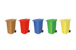 Recycling trash cans Royalty Free Stock Photography