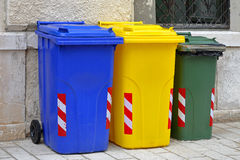 Recycling trash cans Royalty Free Stock Photos