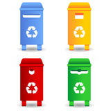 Recycling trash containers Stock Photos