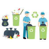 Recycling trash. Vector illustration of recycling trash Royalty Free Illustration