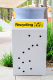 A recycling trashcan Royalty Free Stock Photo