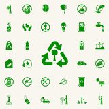 Recycling of a tree green icon. greenpeace icons universal set for web and mobile. On colored background stock illustration