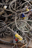 Recycling truck electric wiring set Royalty Free Stock Images