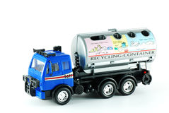Recycling truck toy Royalty Free Stock Images