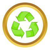 Recycling vector icon Royalty Free Stock Images