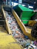 Recycling waste plant. Recycling plant, paper, plastic, recycled, recycle, carton, environment, waste, wasted stock photography