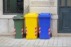 Recycling Wheelie Bins Royalty Free Stock Image