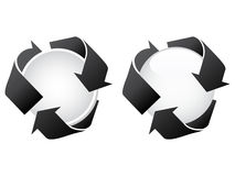 Recycling white buttons Royalty Free Stock Image