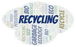 Recycling word cloud stock images