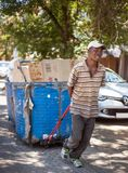 Recycling worker in Johannesburg South Africa. stock images
