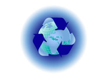 Recycling World Map Royalty Free Stock Photo