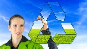 Recyclingsteken Stock Fotografie