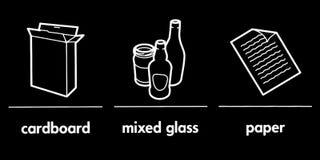 Recyclingstekens stock illustratie