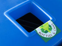 Recycliong bin for bottles and cans Royalty Free Stock Images