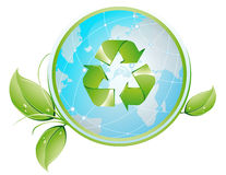 Recykling_glob. Vector illustration shows Recycling Globe vector illustration