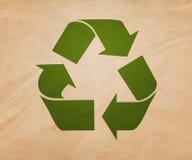 Recykling Retro Background Illustration Stock Image