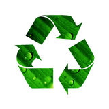 recylclesymbol Royaltyfri Fotografi