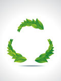 Recyle Icon With Leaf Stock Photo