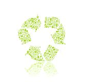 Recyple Silhouette Icon Sign Stock Photo