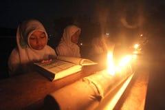 Recytacja torchlight Zdjęcia Stock