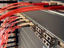 Red óptica de la fibra foto de archivo