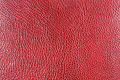 Red. Fine red leather texture background Stock Photography