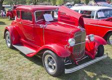 Red 1930 Ford Coupe. MARION, WI - SEPTEMBER 16: 1930 Red Ford Coupe car at the 3rd Annual Not Just Another Car Show on September 16, 2012 in Marion, Wisconsin Stock Photo