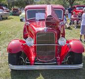 Red 1930 Ford Coupe Front View. MARION, WI - SEPTEMBER 16: Front View of 1930 Red Ford Coupe car at the 3rd Annual Not Just Another Car Show on September 16 Royalty Free Stock Images