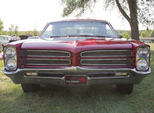 Red 1966 Pontiac Grill View Royalty Free Stock Photos