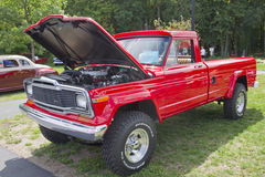 Red 1979 Jeep Pickup Truck Royalty Free Stock Images