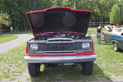 Red 1979 Jeep Pickup Truck Engine Royalty Free Stock Photography