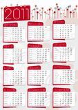 Red 2011 poster calendar Royalty Free Stock Images
