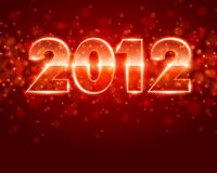 Red 2012 background Stock Photography
