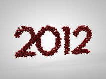 Red 2012 wishes. Red balls form the 2012 number Royalty Free Stock Image