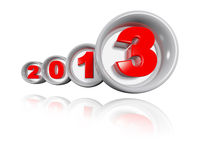 Red 2013 design in Big Torus Stock Images