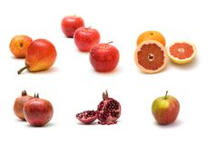 Red. Fresh ripe fruits on white background Royalty Free Stock Image