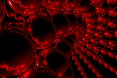 Red 3D abstract background Royalty Free Stock Photography