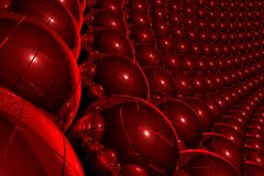 Red 3D abstract background Stock Image