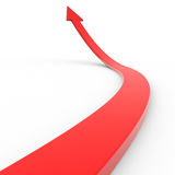 Red 3d arrow up. Computer generated image Royalty Free Stock Photography