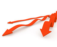 Red 3D arrows Royalty Free Stock Photos