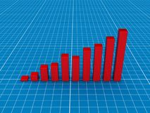 Red 3d chart Royalty Free Stock Images