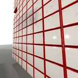 red 3D'Cubes Imagen de archivo